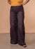Accessorize In Style Full Length Black Wide Leg Pieced Together Jeans