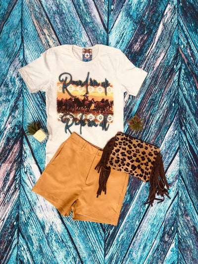 Accessorize In Style Graphic Tees Round'em Up Tee