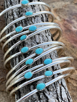 Davie Turquoise Sterling Cuff