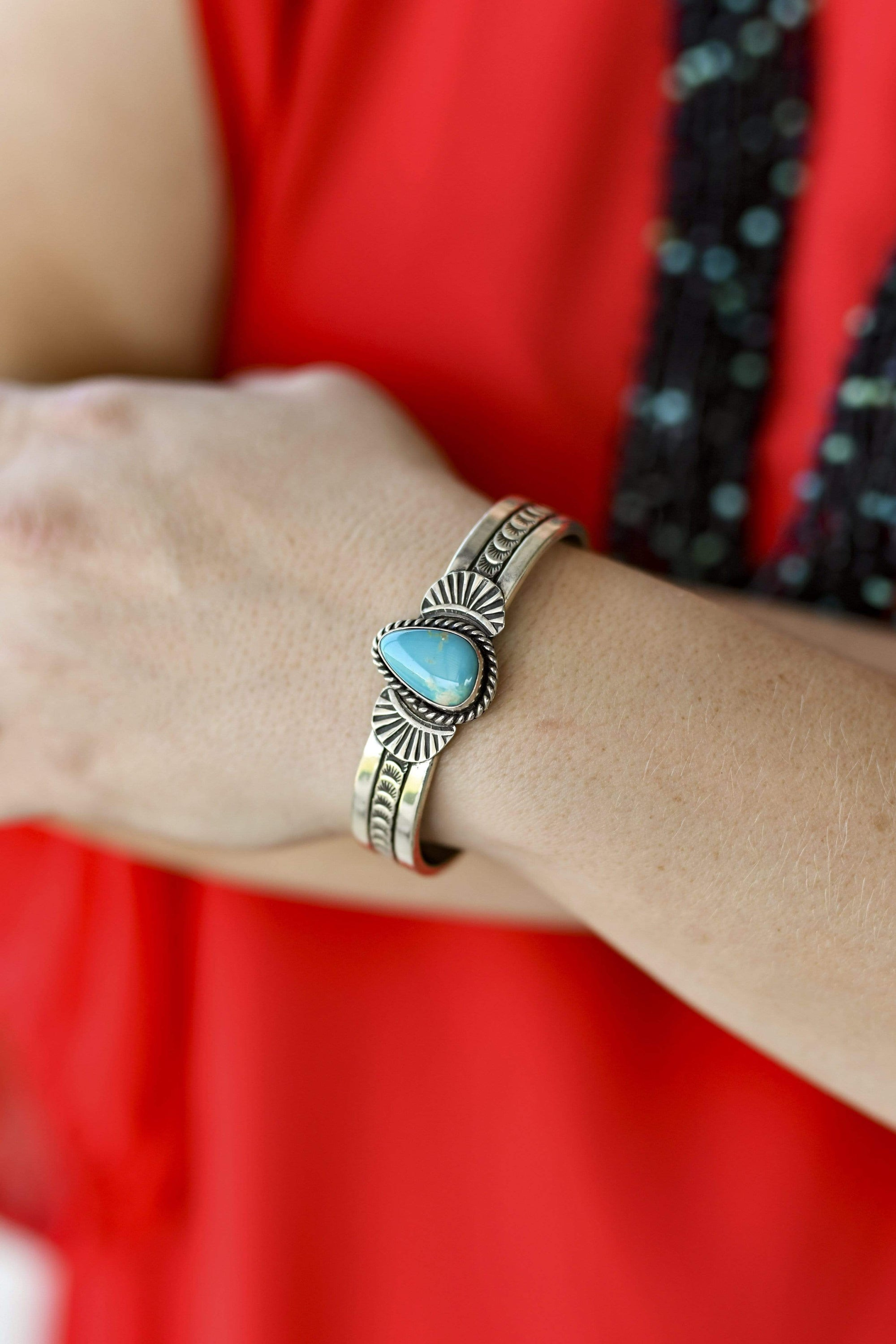 Desert Song Sterling & Turquoise Cuff