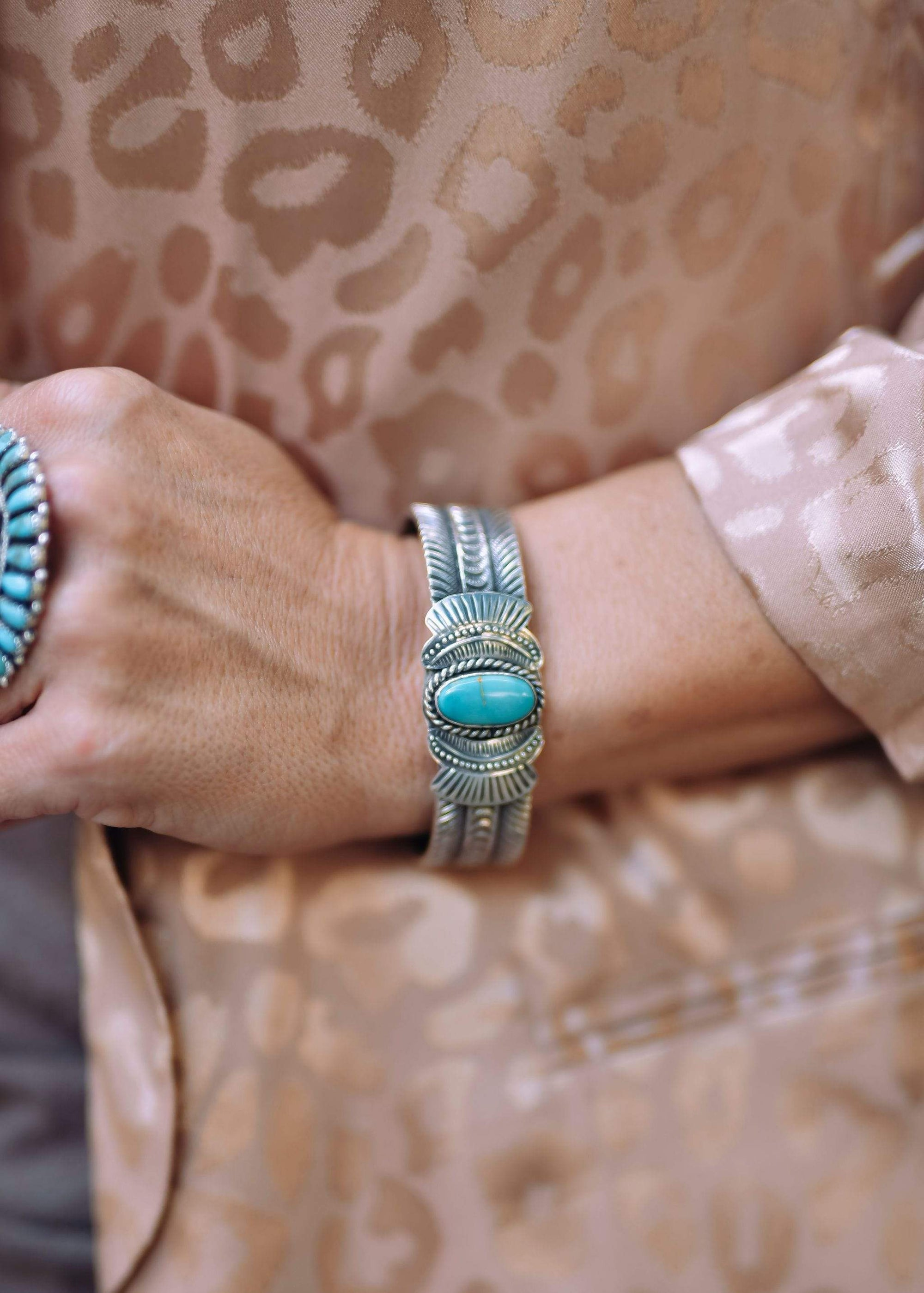 Jenny Sterling Turquoise Silver Cuff