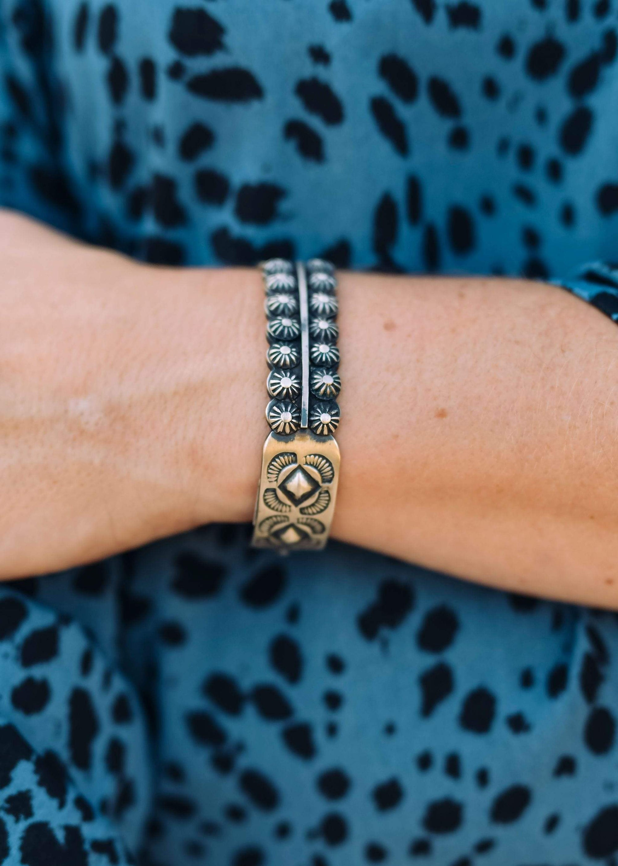Accessorize In Style Sterling Bracelets Sterling Double Star Row Cuff