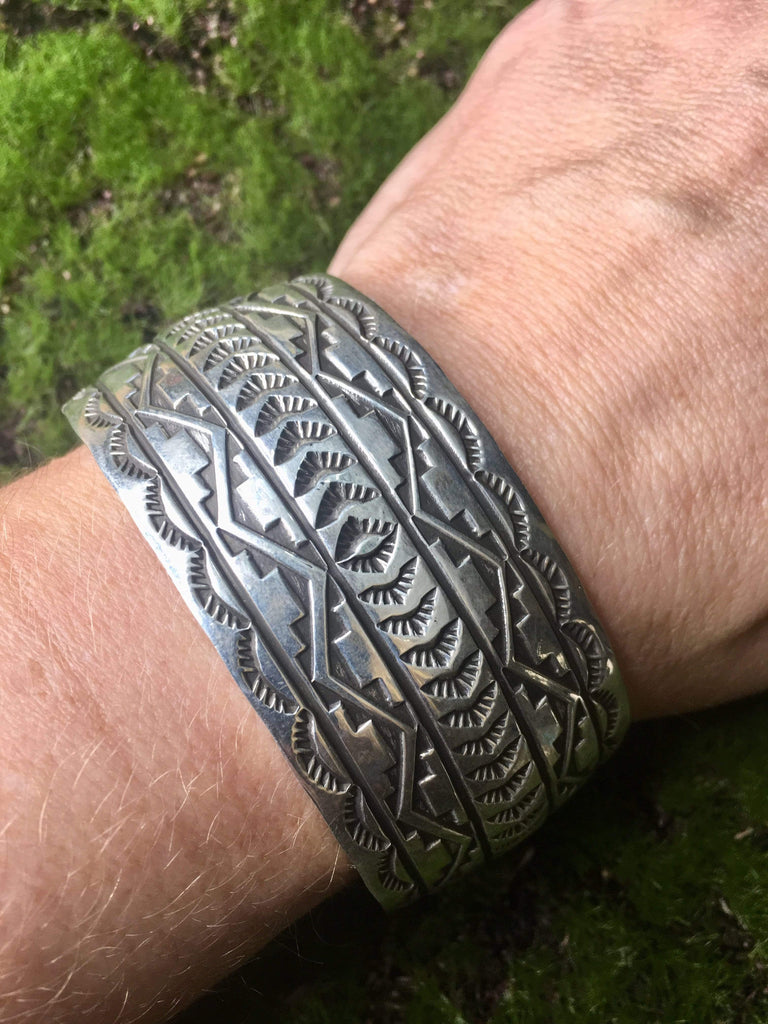 Accessorize In Style Sterling Bracelets Sterling Silver Stamped Cuff