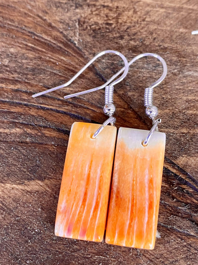 Accessorize In Style Sterling Earrings A Courtney Orange Spiny Dangle Earrings