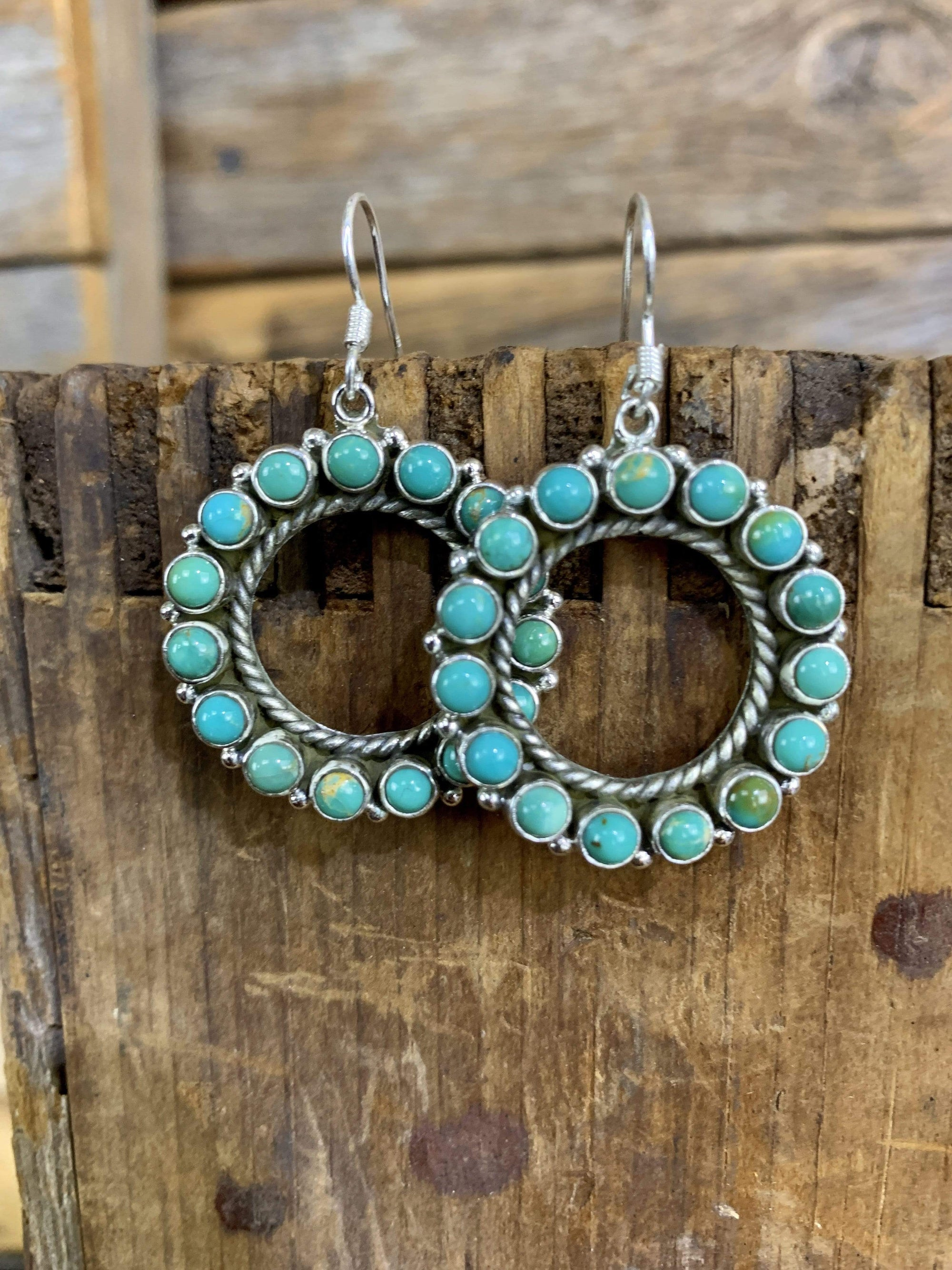 Accessorize In Style Sterling Earrings B Circle Of Friends Turquoise & Sterling Ear Wires