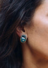 Accessorize In Style Sterling Earrings Charlie Oval Turquoise Mix Stud Earrings