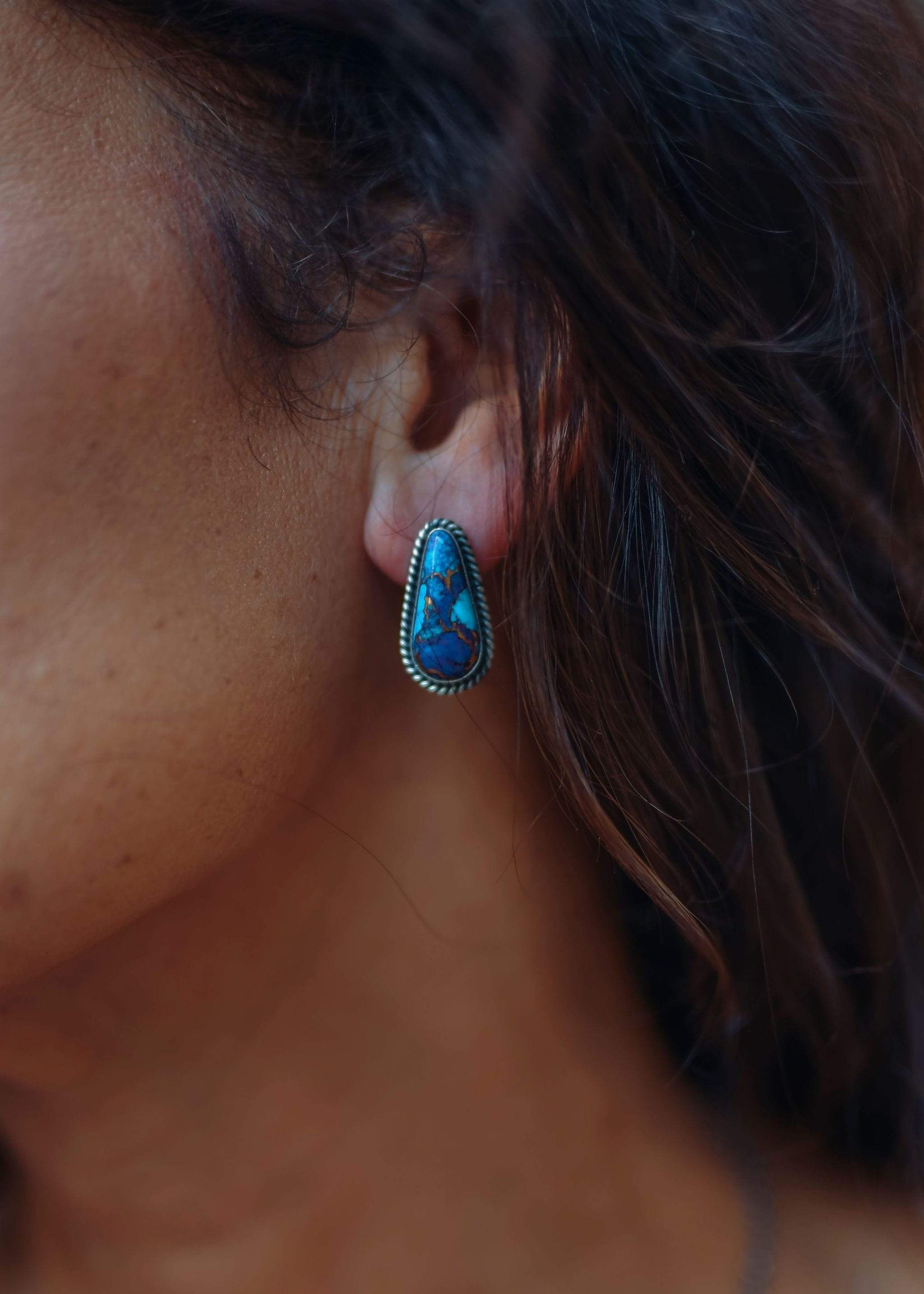 Mojave Turquoise Stud Earrings