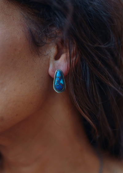 Accessorize In Style Sterling Earrings Copy of Mojave Turquoise Stud Earrings