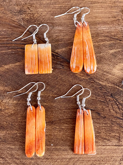 Accessorize In Style Sterling Earrings Courtney Orange Spiny Dangle Earrings