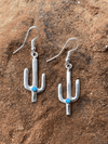 Accessorize In Style Sterling Earrings Fish Hook Hailey Turquoise Cactus Earrings