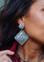 Accessorize In Style Sterling Earrings Nadia Sterling Stamped Diamond Post Drop