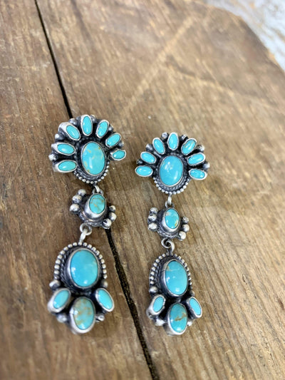 Accessorize In Style Sterling Earrings Olivia Sterling Silver & Turquoise Earrings