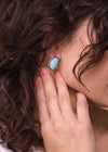Accessorize In Style Sterling Earrings Sterling Silver Turquoise Post Studs