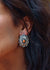 Sterling Spiny Oyster Concho Earrings