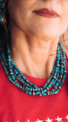 Accessorize In Style Sterling Necklaces 5 Strand Turquoise Necklace
