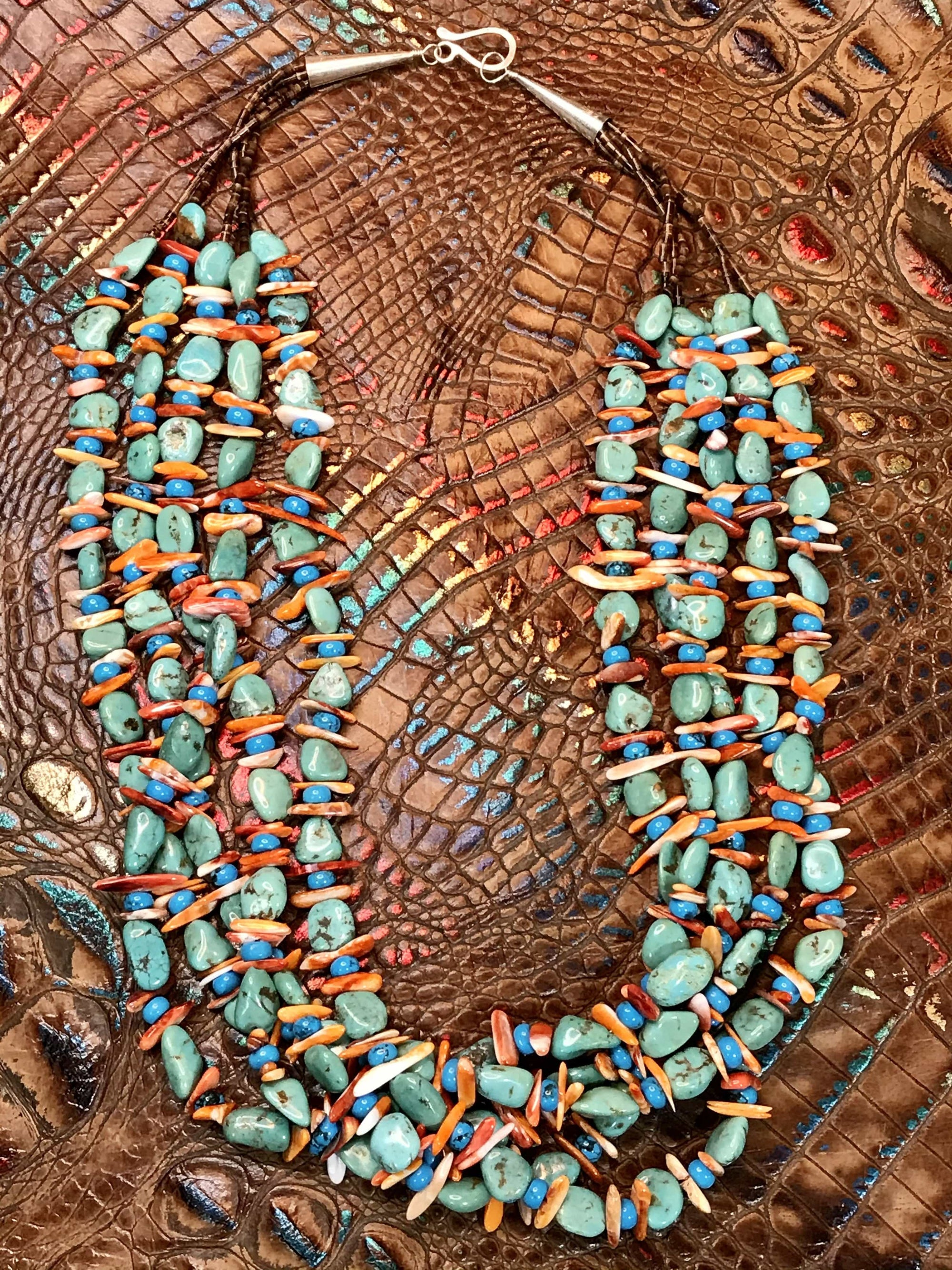Bahama 5 Strand Mixed Stone Necklace - 26""