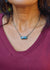 Accessorize In Style Sterling Necklaces Copy of Mojave Turquoise Bar Necklace - Small