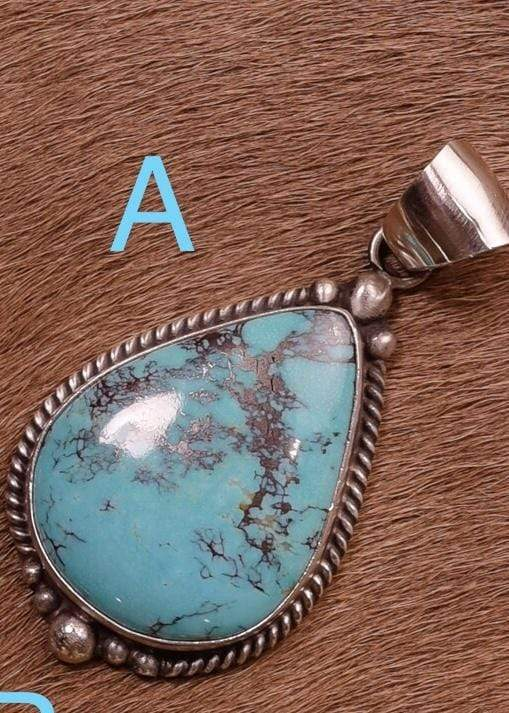 Accessorize In Style Sterling Pendants A Sterling Kingman Turquoise Pendants A - F