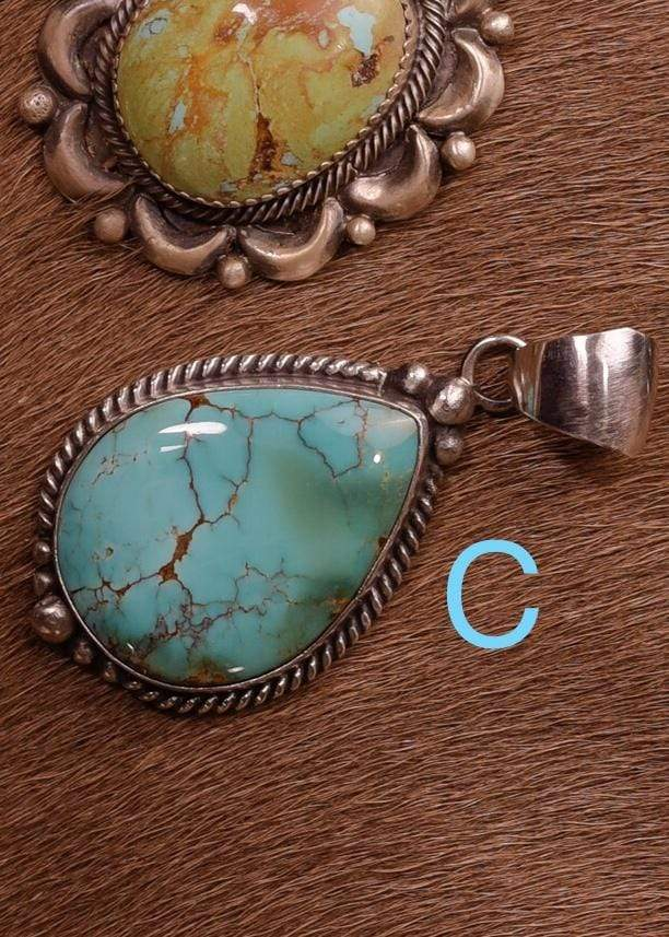 Accessorize In Style Sterling Pendants C Sterling Kingman Turquoise Pendants A - F