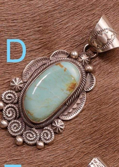 Accessorize In Style Sterling Pendants D Sterling Kingman Turquoise Pendants A - F