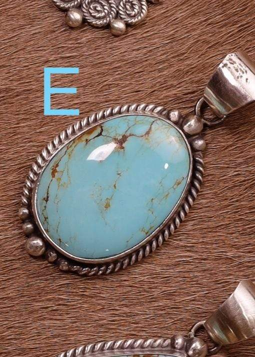 Accessorize In Style Sterling Pendants E Sterling Kingman Turquoise Pendants A - F