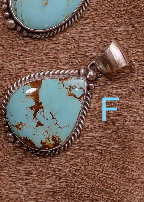 Accessorize In Style Sterling Pendants F Sterling Kingman Turquoise Pendants A - F