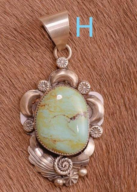 Accessorize In Style Sterling Pendants H Sterling Kingman Turquoise Pendants