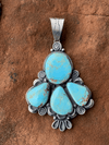 Accessorize In Style Sterling Pendants Janice Sterling 4 Stone Kingman Turquoise Pendant