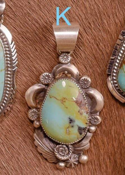 Accessorize In Style Sterling Pendants K Sterling Kingman Turquoise Pendants