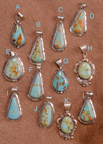 Accessorize In Style Sterling Pendants Sterling Kingman Turquoise Pendants