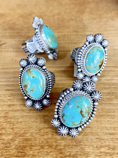 Accessorize In Style Sterling Rings Horizon Sterling and Turquoise Ring