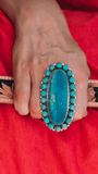 Accessorize In Style Sterling Rings Turquoise Trenta Oval Ring