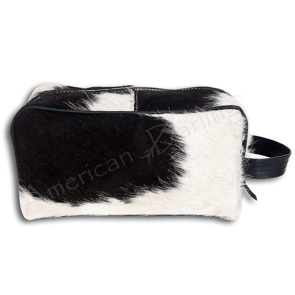 American Darling Accessories Specialty Cowhide Shave Dop Kit - Black & White