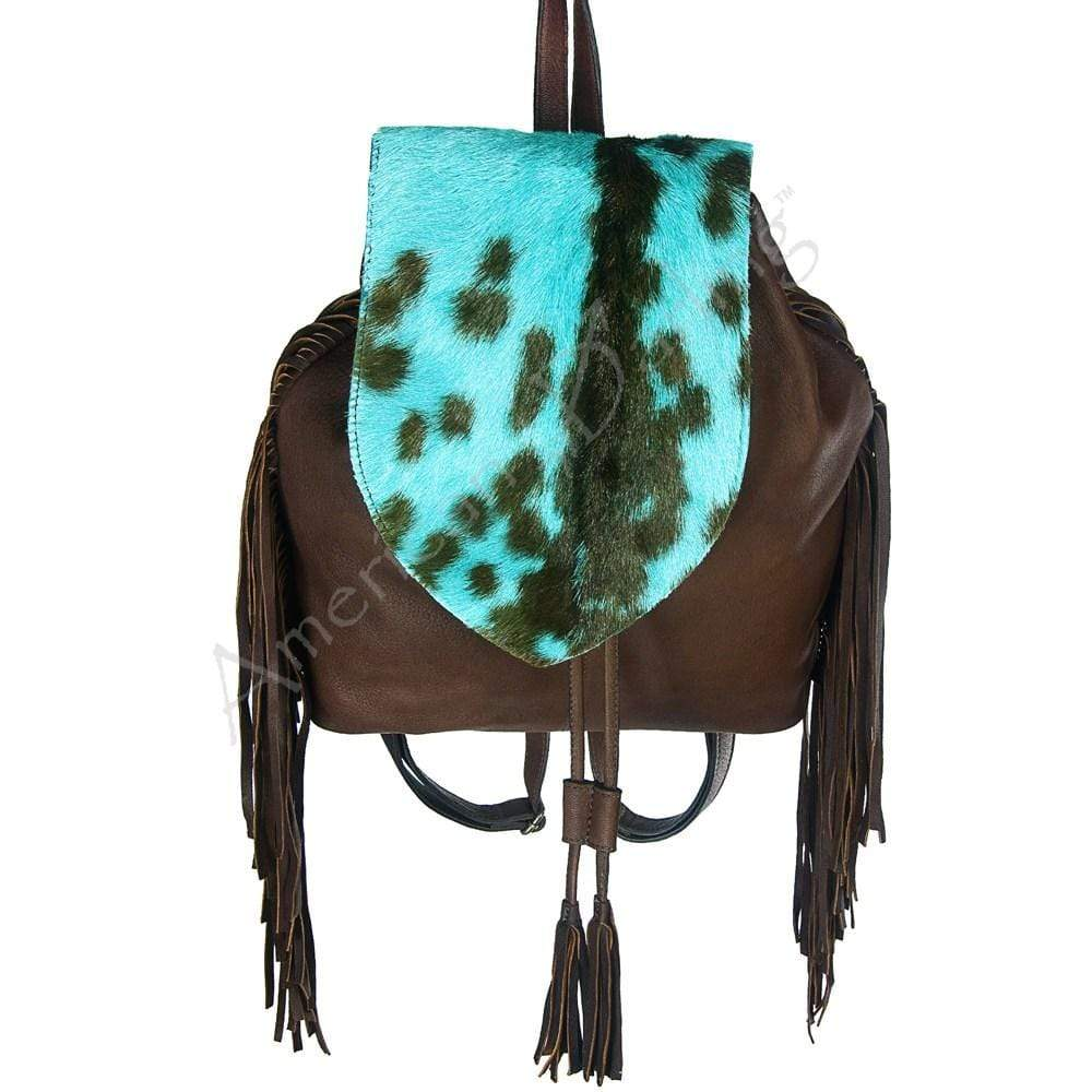 American Darling Handbags Leather With Turquoise Backpack