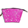 American Darling Handbags Pink Acid Wash Hair On Pouch - Large