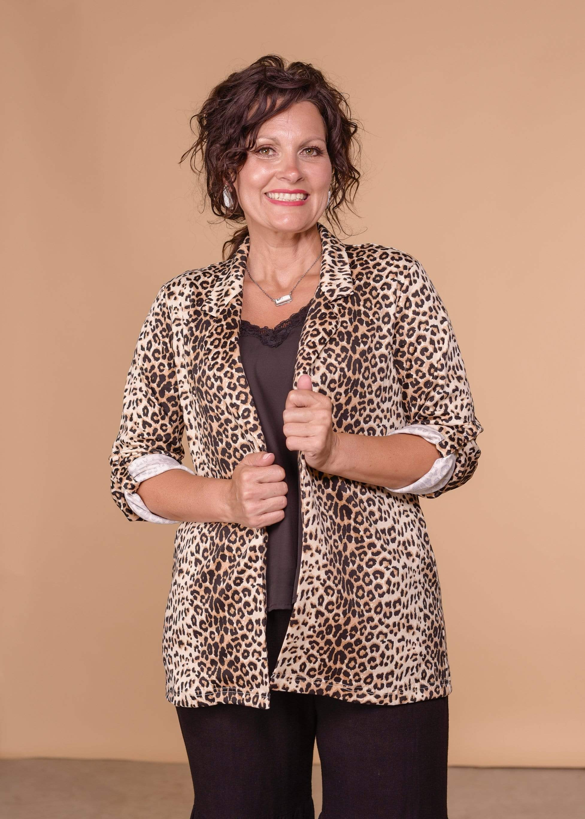 Just for Girls Blazer- Leopard