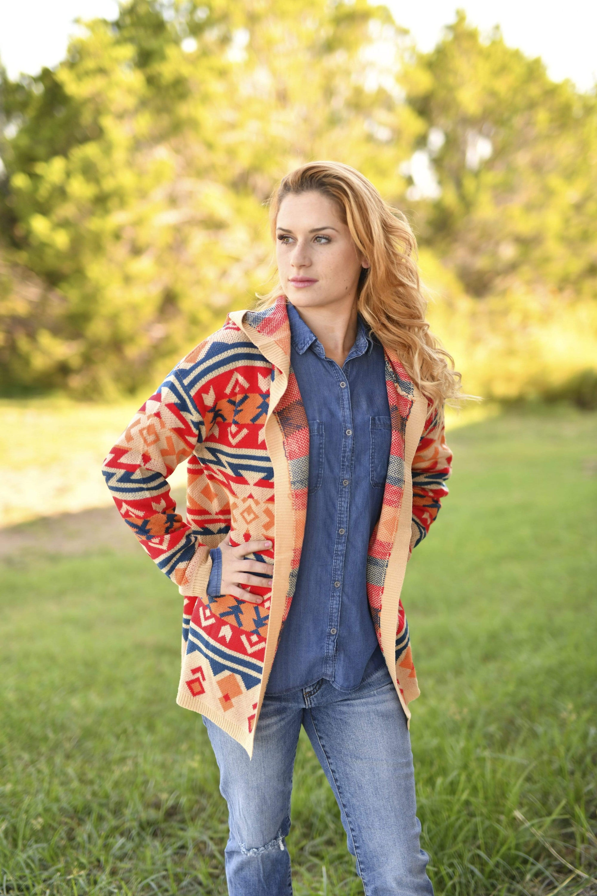 Sedona Print Cardigan Sweater
