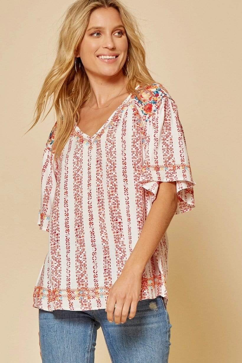 Chelsey Embroidered Top