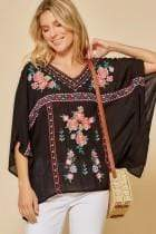 Andree by Unit Casual Jane Ponch Black Blouse