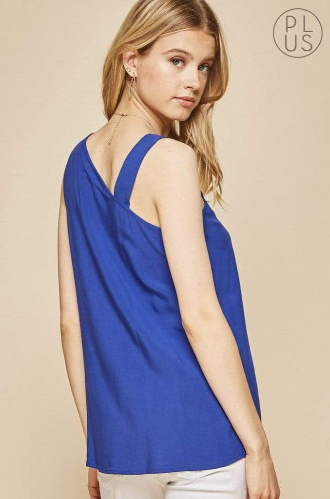 Andree by Unit Dressy One Shoulder Top - Royal