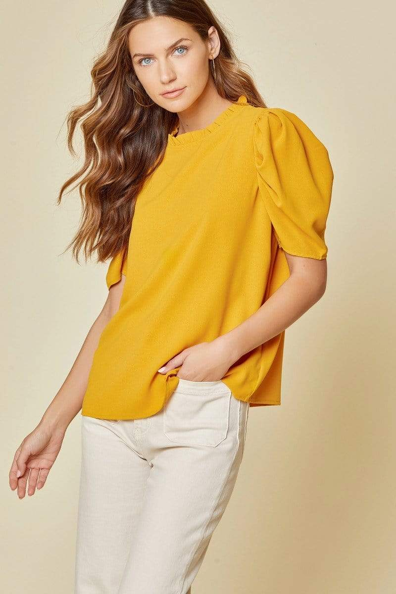 Rodeo Drive Blouse - Mustard