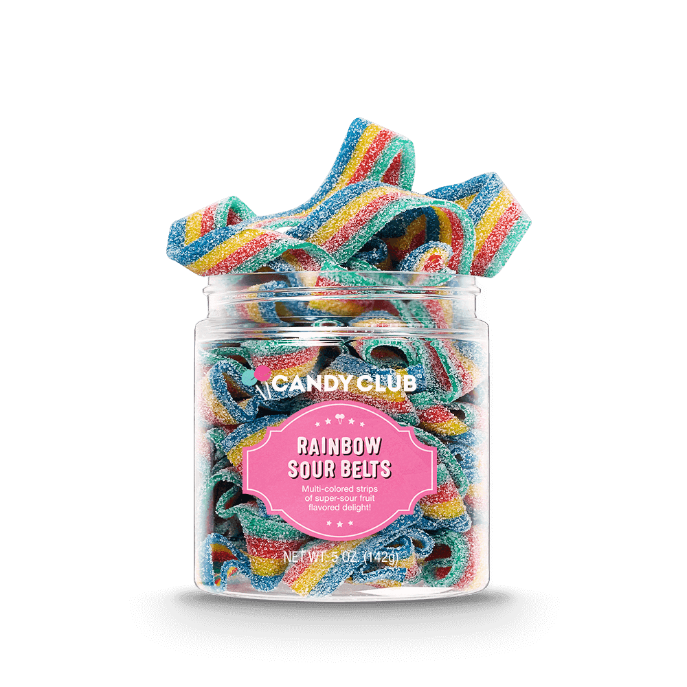 Candy Club Accessories Specialty Rainbow Sour Belts