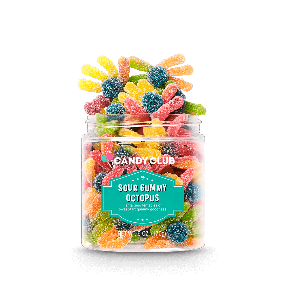 Candy Club Accessories Specialty Sour Gummy Octopus