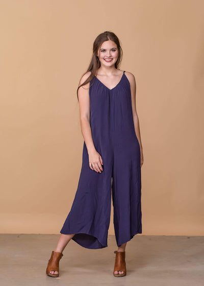 Cherish Dresses Navy Tank Top Jumpsuit
