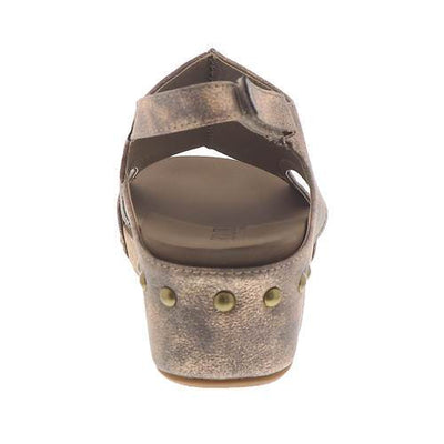 Corkys Wedges Wedge Studded Volta Sandals - Bronze