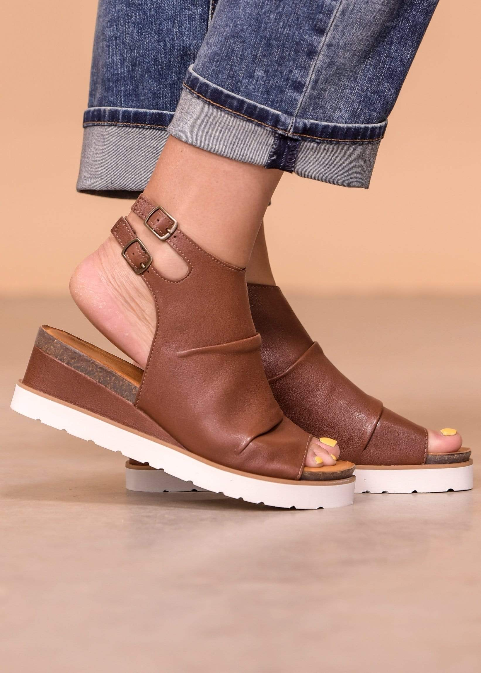 Diba Wedges DIBA Leather Sandal - Gee Whiz