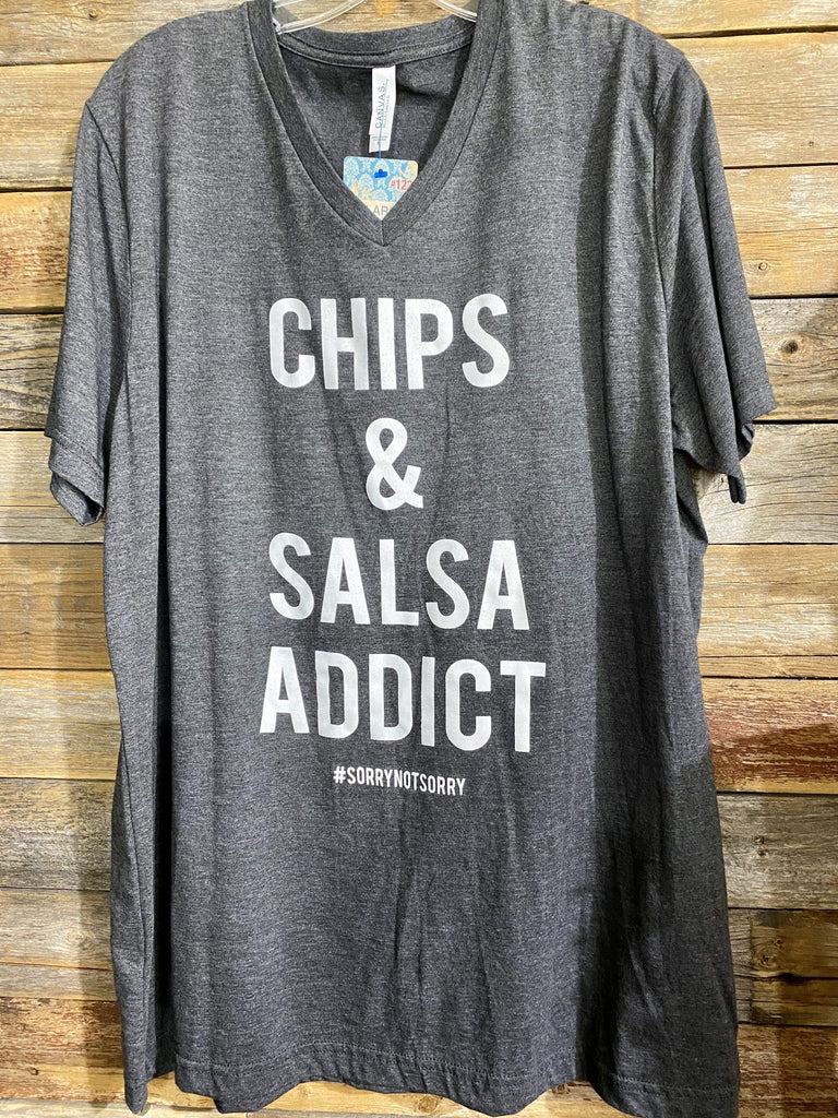 Discount Diva Graphic Tees Chips & Salsa Addict Tee