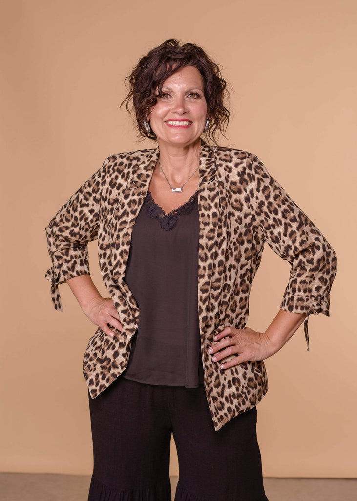 Ellison Blazers Leopard Everyday Jacket
