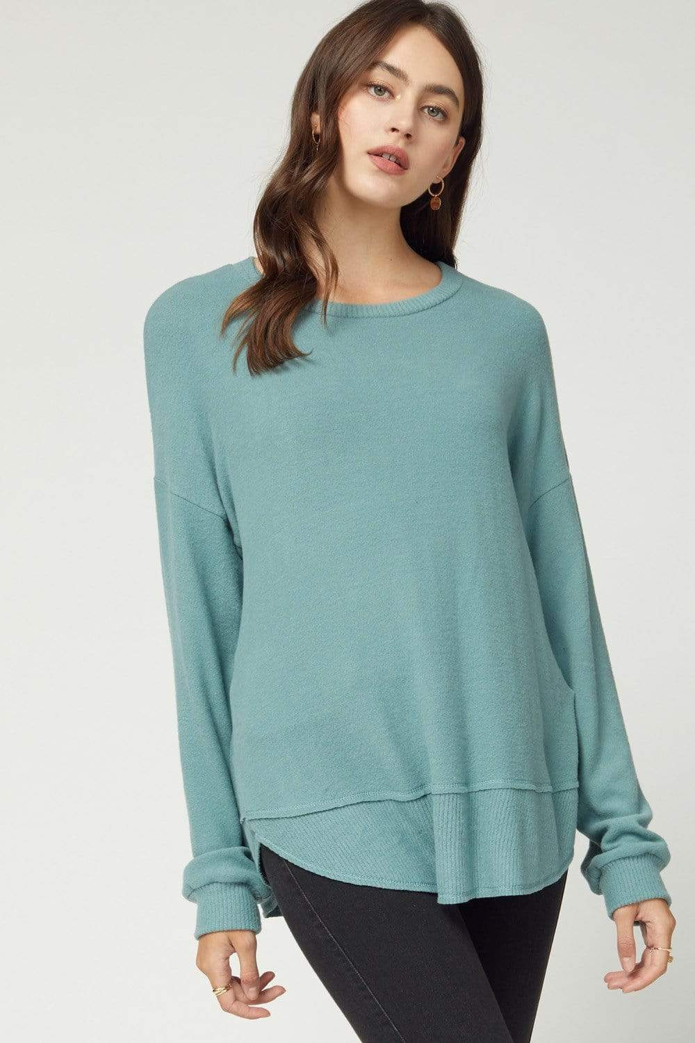 Scoop Neck Top Hazel Green