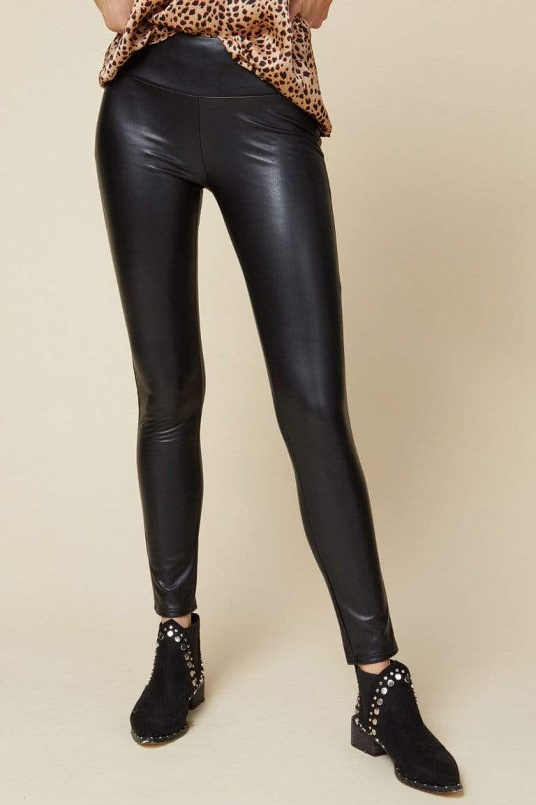 Entro Leggings Black Faux Leather Pants / Leggings